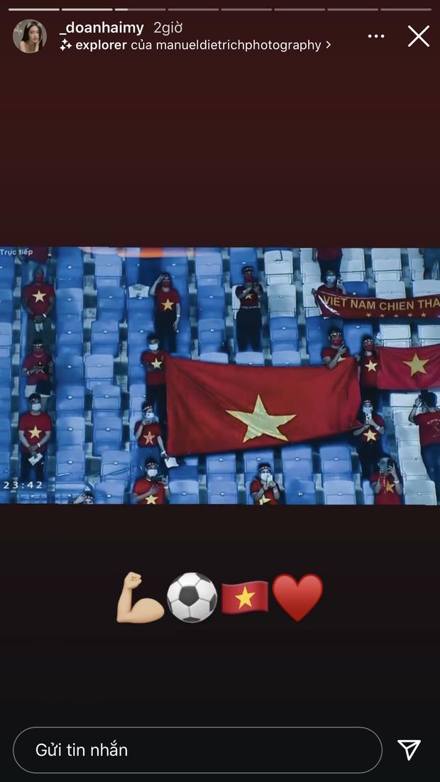 Top 10 Hoa hậu Việt Nam thức đêm cổ vũ Đoàn Văn Hậu, mạnh dạn bày tỏ tình cảm cho bạn trai tin đồn - Ảnh 2.