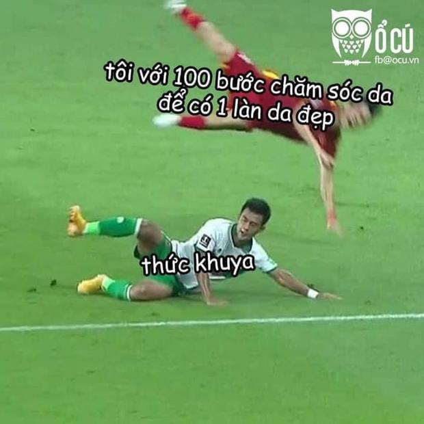 Việt Nam chốt đơn Indonesia 4-0, mạng xã hội bùng nổ loạt meme cực đỉnh, biểu cảm của Quang Hải chiếm trọn spotlight - Ảnh 7.