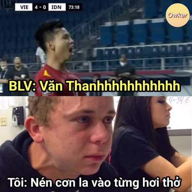 Việt Nam chốt đơn Indonesia 4-0, mạng xã hội bùng nổ loạt meme cực đỉnh, biểu cảm của Quang Hải chiếm trọn spotlight - Ảnh 12.
