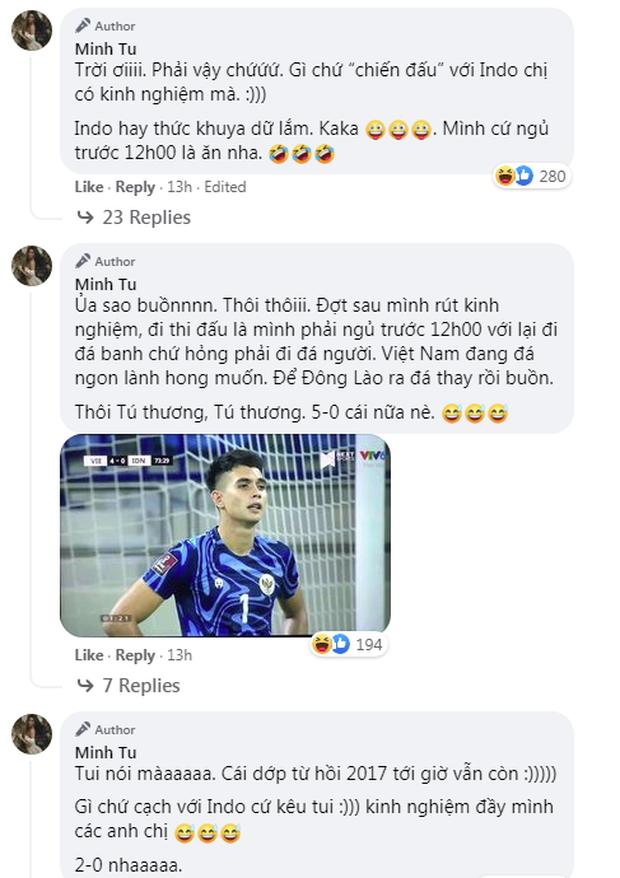 Minh Tú xem bóng đá lại nhớ chuyện xưa: Gì chứ chiến đấu với Indonesia cứ kêu tui, kinh nghiệm đầy mình - Ảnh 6.