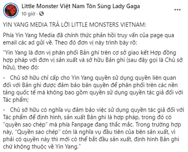 Fan Lady Gaga tại Việt Nam quay xe đòi công bằng cho Văn Mai Hương trước ồn ào cover, nhưng tuyên bố đừng vội mừng? - Ảnh 2.