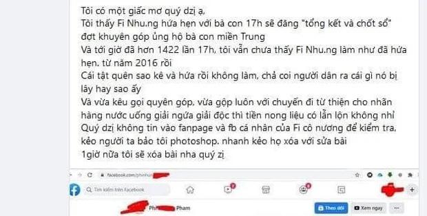 """Phi Nhung bị netizen đào lại và soi điểm bất thường trong 2 vụ kêu gọi từ thiện miền Trung, nghi ngờ """"ngâm"""" sao kê suốt 5 năm? - Ảnh 3."""