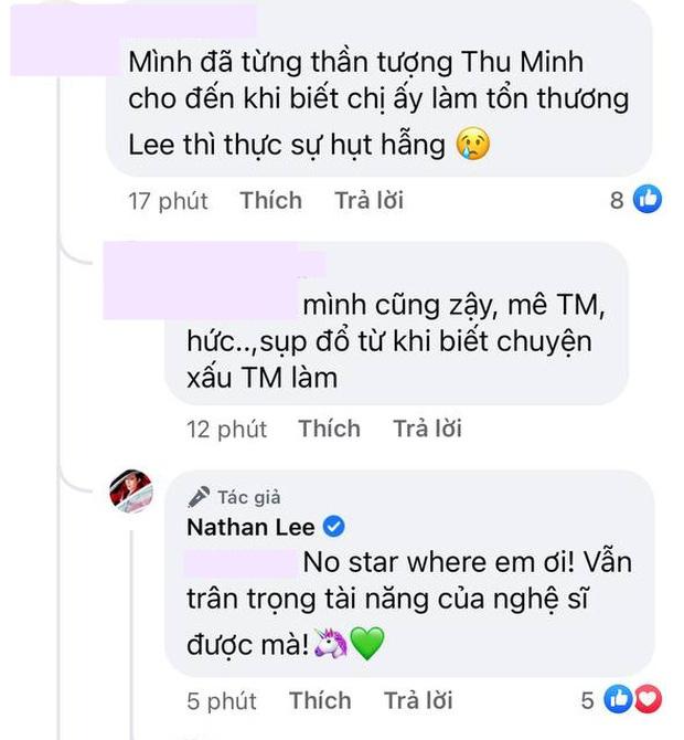 Bắt gặp Nathan Lee vẫn bênh vực Thu Minh khi netizen bày tỏ sự thất vọng, dù bóc phốt nhưng việc gì ra việc đấy! - Ảnh 3.