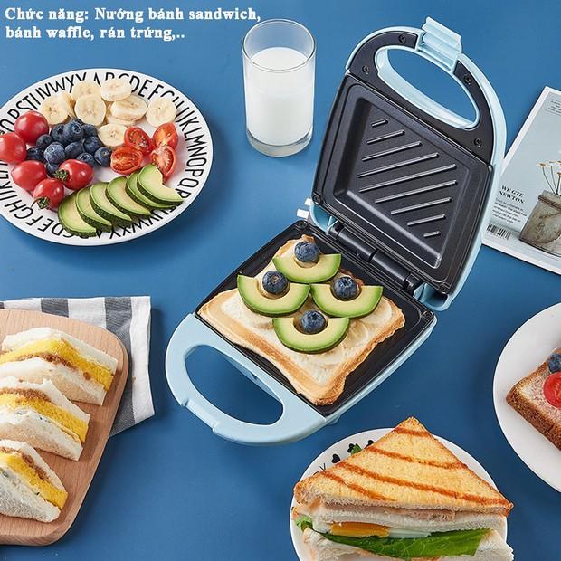 Ở nhà không la cà sắm ngay máy kẹp nướng bánh mì siêu xinh siêu tiện, thành phẩm ngon như ngoài tiệm - Ảnh 1.