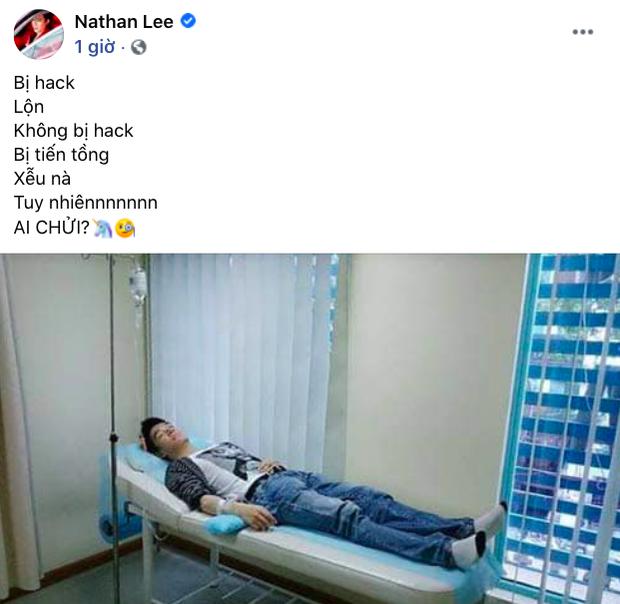 Nathan Lee bất ngờ đăng ảnh nhập viện kèm thông báo bị hack, bị tống tiền, dân mạng khen thâm thuý: Đúng quy trình rồi! - Ảnh 2.