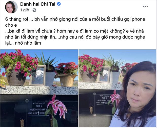 6 tháng sau cố NS Chí Tài qua đời, ca sĩ Phương Loan đến thăm mộ chồng và tâm sự 1 điều khiến ai cũng xót xa - Ảnh 2.