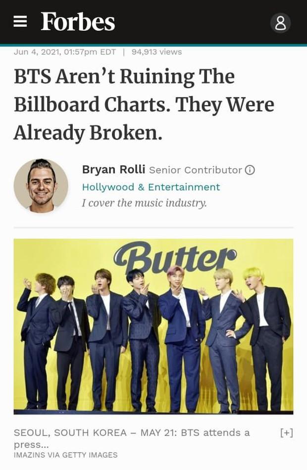 Tác giả bài viết nói BTS phá hỏng Billboard quay xe nhận sai, nhưng vẫn khẳng định Butter dở tệ - Ảnh 3.