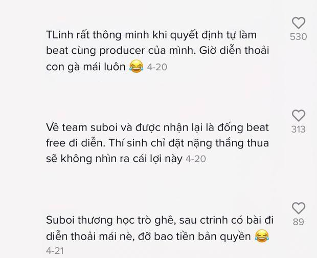 Tlinh mang hit tại Rap Việt đi diễn, netizen kháo nhau: Sáng suốt về team Suboi vì có núi beat free không lo bản quyền - Ảnh 3.