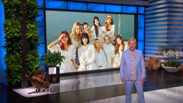 TWICE trình làng ca khúc mới, khoe visual hớp hồn trong show Mỹ, được Ellen gọi bằng: Siêu sao Kpop! - Ảnh 3.