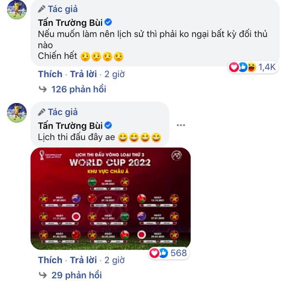 Thủ môn Tấn Trường phản ứng về kết quả bốc thăm vòng loại World Cup của tuyển Việt Nam, nói 1 câu mà ai cũng hừng hực khí thế! - Ảnh 3.
