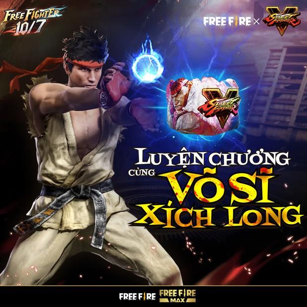 Free Fire bắt tay Street Fighter V, game thủ được nhận miễn phí hàng loạt quà tặng xịn xò - Ảnh 5.