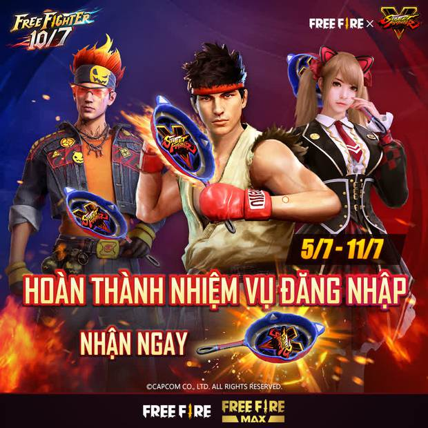 Free Fire bắt tay Street Fighter V, game thủ được nhận miễn phí hàng loạt quà tặng xịn xò - Ảnh 2.