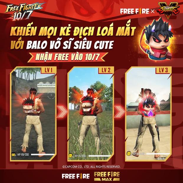 Free Fire bắt tay Street Fighter V, game thủ được nhận miễn phí hàng loạt quà tặng xịn xò - Ảnh 3.