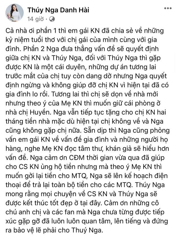 Thuý Nga bất ngờ thông báo ngừng giúp đỡ ca sĩ Kim Ngân, sẽ hoàn tiền từ thiện lại cho nhà hảo tâm: Lý do là gì? - Ảnh 2.