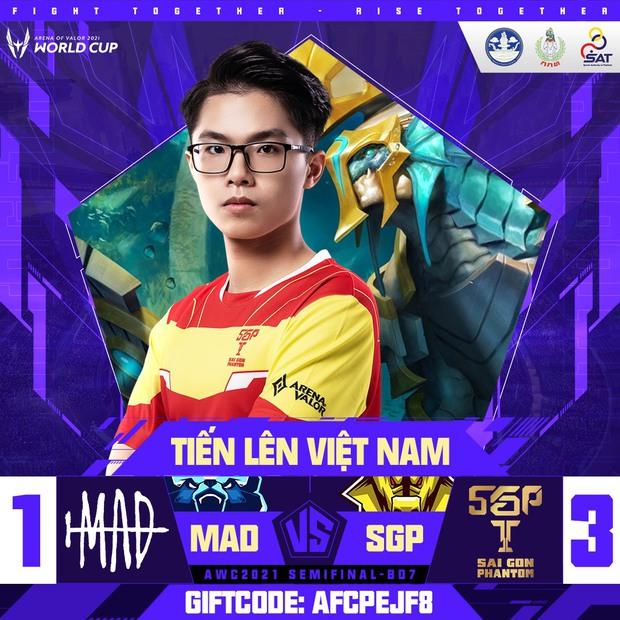 Saigon Phantom hủy diệt MAD Team tại Bán kết AWC 2021 trong ngày Lai Bâng và Lạc Lạc tỏa sáng rực rỡ - Ảnh 3.