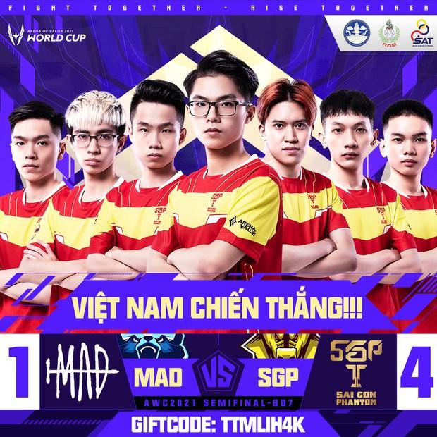 Saigon Phantom hủy diệt MAD Team tại Bán kết AWC 2021 trong ngày Lai Bâng và Lạc Lạc tỏa sáng rực rỡ - Ảnh 4.