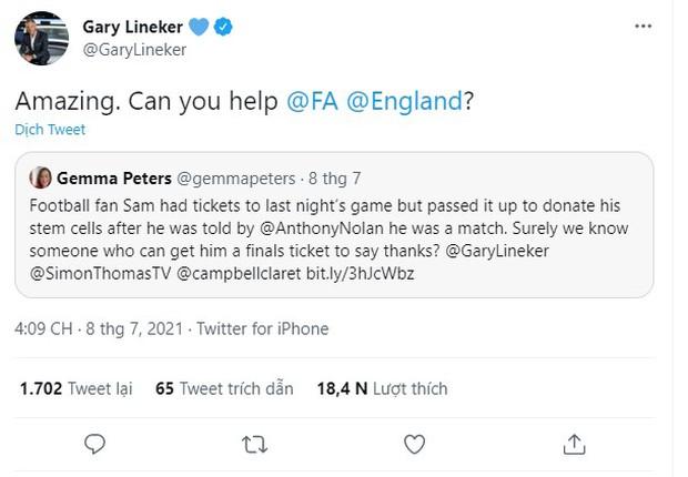 Câu chuyện cảm động về chàng trai người Anh không đi xem trận bán kết Euro để hiến tế bào gốc cứu người và món quà xứng đáng mà anh chàng được nhận lại - Ảnh 3.