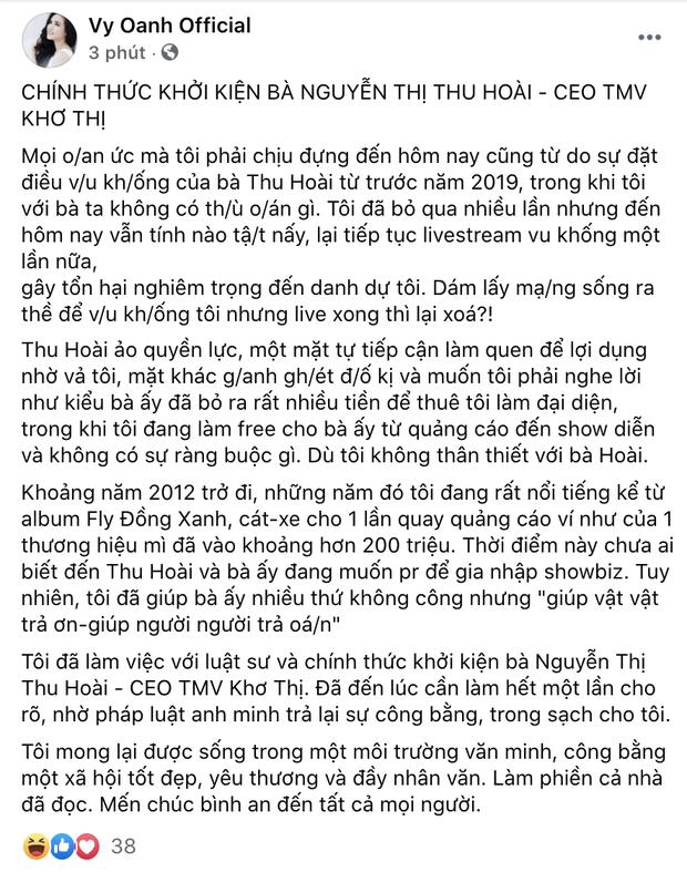 Nóng: Vy Oanh chính thức khởi kiện Hoa hậu Thu Hoài, tuyên bố căng đét! - Ảnh 2.