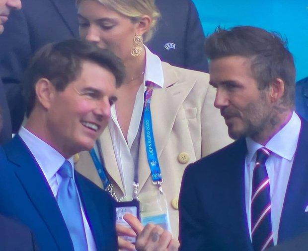 Dàn sao đổ bộ Chung kết Euro 2020: David Beckham - Tom Cruise thân mật gây bão, Harper xinh xắn át cả siêu mẫu Kate Moss - Ảnh 5.
