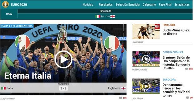 Báo Pháp nâng tuyển Italy lên tận mây xanh, báo Đức hả hê dìm hàng tuyển Anh sau chung kết Euro 2020 - Ảnh 3.