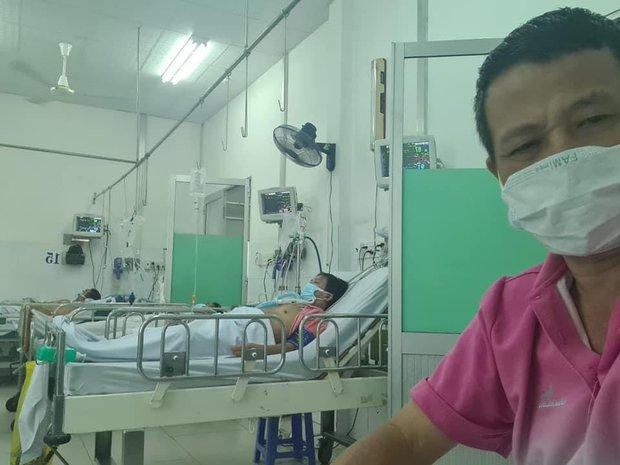 Đây là tình trạng hiện tại của diễn viên Lữ Đắc Long sau khi cả nhà 4 người nhiễm Covid-19, hình ảnh lắp ống thở gây xót xa - Ảnh 3.