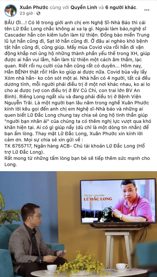 Diễn viên Lữ Đắc Long phải thở máy, cả gia đình 4 người nhiễm Covid-19, Trương Quỳnh Anh và dàn sao đồng loạt kêu gọi ủng hộ - Ảnh 5.
