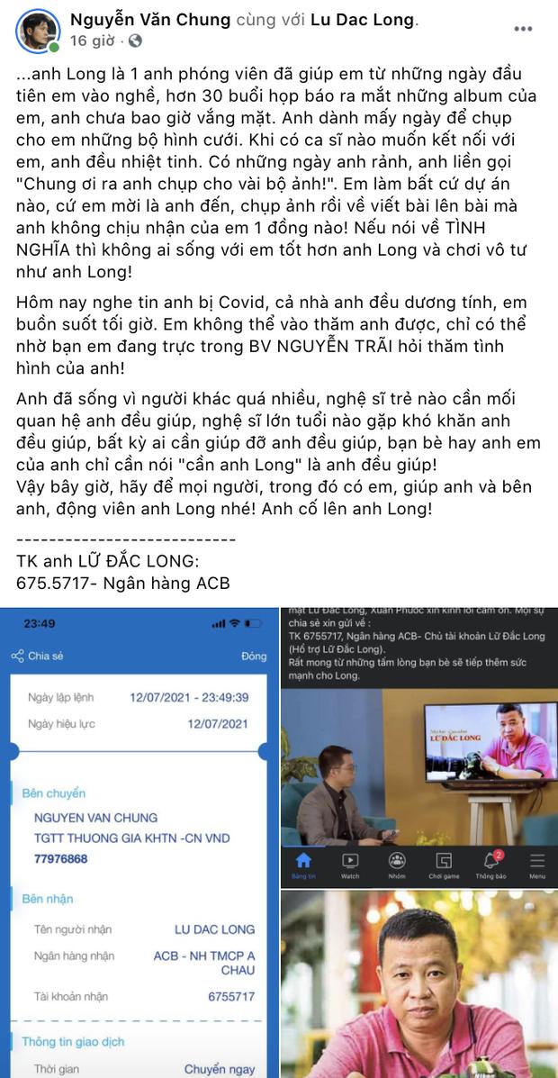 Diễn viên Lữ Đắc Long phải thở máy, cả gia đình 4 người nhiễm Covid-19, Trương Quỳnh Anh và dàn sao đồng loạt kêu gọi ủng hộ - Ảnh 6.