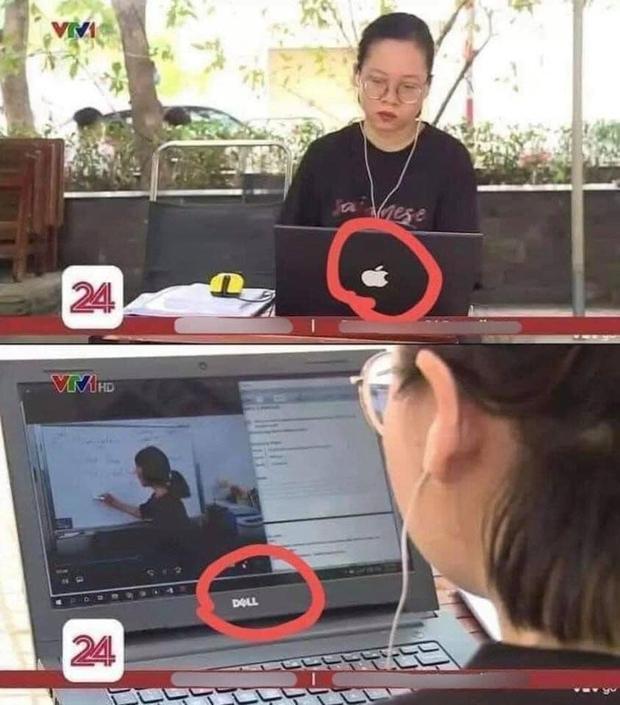 Nữ sinh lên sóng VTV nghiêm túc nhìn vào Macbook xịn học online, nhưng khi dân mạng thấy màn hình phía trước thì khóc ngất - Ảnh 1.