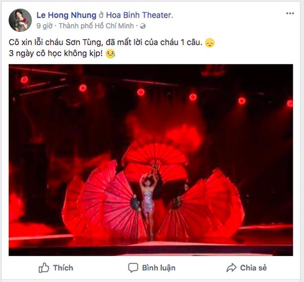 Là Diva gạo cội làng nhạc Việt nhưng Hồng Nhung từng phải lên tiếng xin lỗi Sơn Tùng M-TP vì một lý do - Ảnh 3.