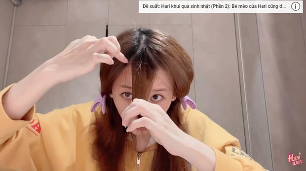2 thái cực khi tự cắt tóc tại gia: Bảo Thy hack tuổi xuất sắc trong khi Hari Won nhận về cái kết hơi đắng nhẹ - Ảnh 3.