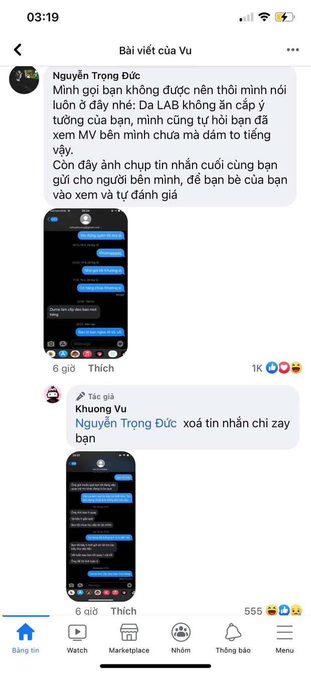 Netizen soi ra bằng chứng thành viên Da LAB xoá tin nhắn, lời giải thích thay điện thoại liệu có hợp lý? - Ảnh 4.