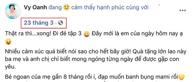 Netizen vò đầu bứt tóc tính thời gian Vy Oanh sinh con: Tháng 3 khoe bụng bầu 8 tháng, lâm bồn sau kỷ lục 12 tháng mang thai? - Ảnh 2.