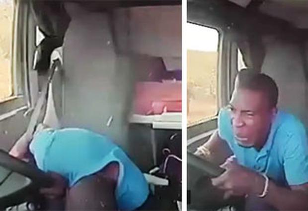 Clip: Tài xế xe tải rẽ nhầm vào địa phận băng cướp, nhận ngay cơn mưa đạn kinh hoàng  - Ảnh 2.