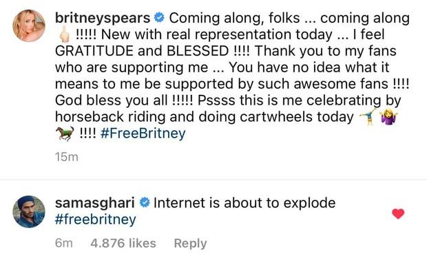 Britney Spears tự tay đăng bài cảm ơn fan, nhắc đến #FreeBritney mà không sợ bị kiểm soát; Ariana Grande lập tức chúc mừng! - Ảnh 2.