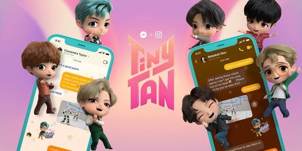 Messenger vừa có thêm theme BTS mới cực xịn xò, ARMY đã thử chưa? - Ảnh 1.