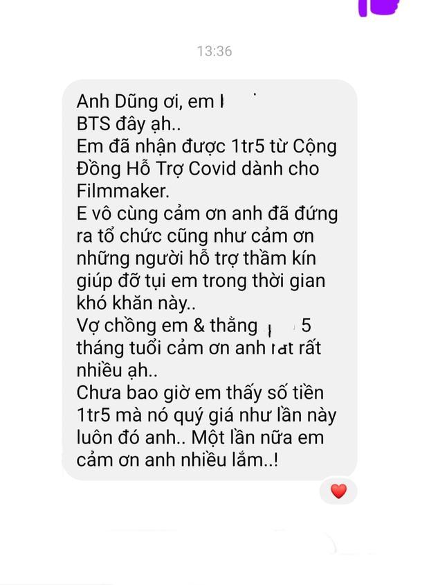 Tình nghệ sĩ đẹp nhất lúc này: Quang Dũng kêu gọi 800 triệu tiếp sức 538 đồng nghiệp, Vbiz chung tay vì 1 diễn viên cả nhà nhiễm Covid - Ảnh 5.