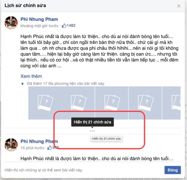 Phi Nhung kêu oan ức khi làm từ thiện, bị netizen bắt bẻ bất hợp lý 1 chi tiết nhưng vẫn phải sửa status tận 21 lần! - Ảnh 5.