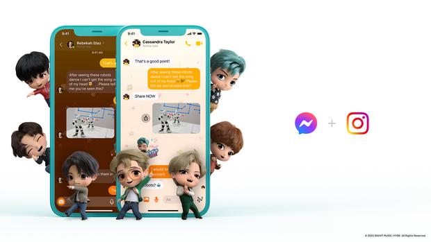 Messenger vừa có thêm theme BTS mới cực xịn xò, ARMY đã thử chưa? - Ảnh 2.
