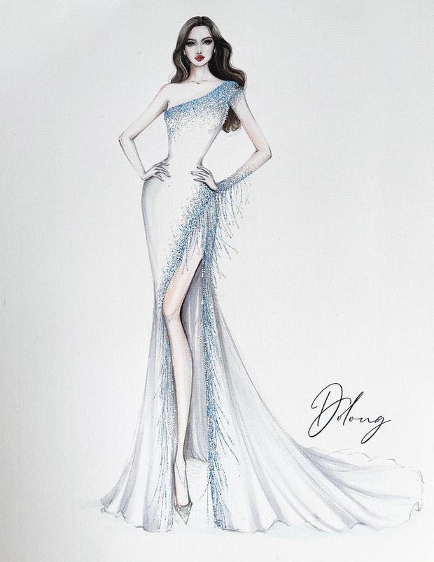 Công bố 5 bản vẽ váy dạ hội cho Hoa hậu Đỗ Thị Hà diện trong Chung kết Miss World, dự sẽ bùng nổ đấu trường quốc tế đây! - Ảnh 4.