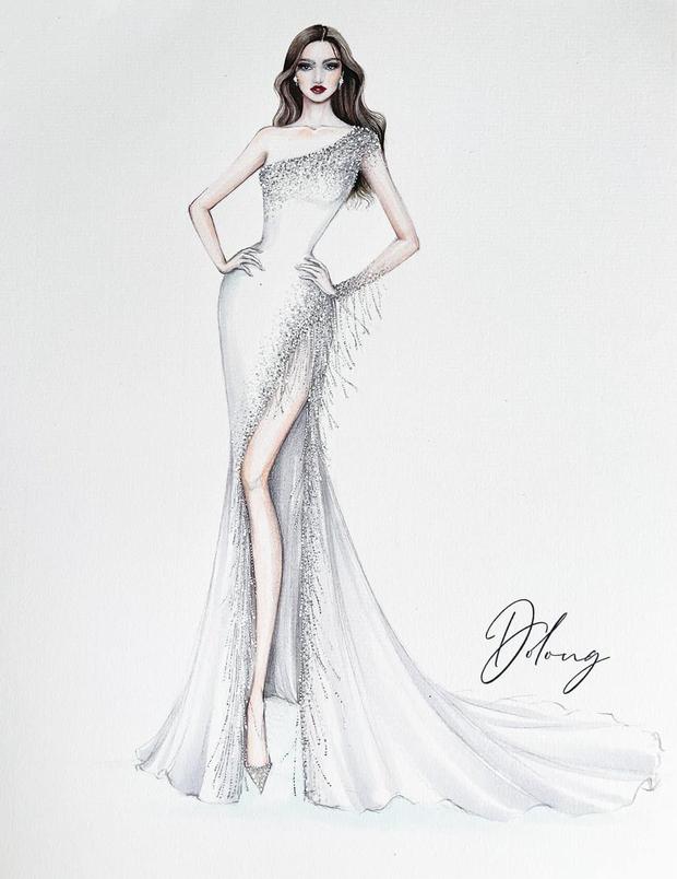 Công bố 5 bản vẽ váy dạ hội cho Hoa hậu Đỗ Thị Hà diện trong Chung kết Miss World, dự sẽ bùng nổ đấu trường quốc tế đây! - Ảnh 5.
