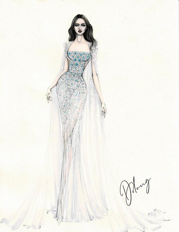 Công bố 5 bản vẽ váy dạ hội cho Hoa hậu Đỗ Thị Hà diện trong Chung kết Miss World, dự sẽ bùng nổ đấu trường quốc tế đây! - Ảnh 6.