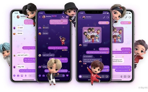 Messenger vừa có thêm theme BTS mới cực xịn xò, ARMY đã thử chưa? - Ảnh 5.