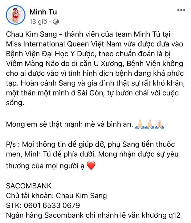 """Hoàng Thuỳ hé lộ tình trạng nguy hiểm của Chau Kim Sang khi bị viêm màng não, hiếm hoi nhắc đến Minh Tú sau tin đồn """"cạch mặt"""" - Ảnh 5."""