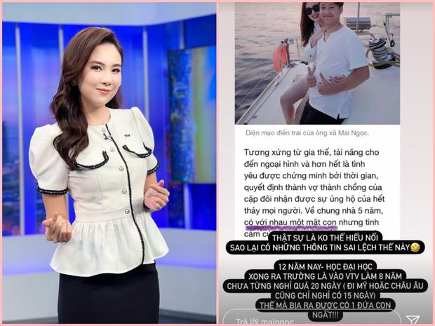 Hoa khôi VTV tự dưng bị đồn là gái 1 con, tuyên bố 8 năm làm MC chỉ nghỉ đi chơi chứ nghỉ đẻ lúc nào?  - Ảnh 2.