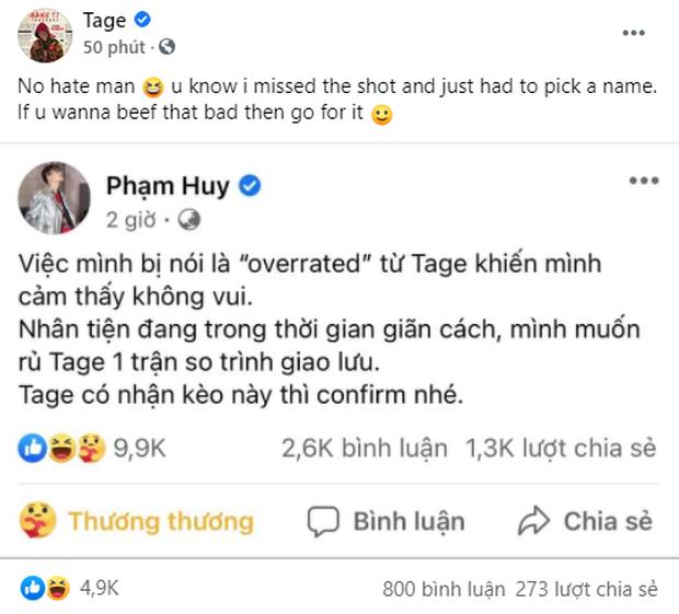 Quán quân King Of Rap tuyên chiến với Tage (Rap Việt), Orange, Xesi và loạt rapper Pháo, Sóc Nâu,... đồng loạt chọn phe! - Ảnh 5.