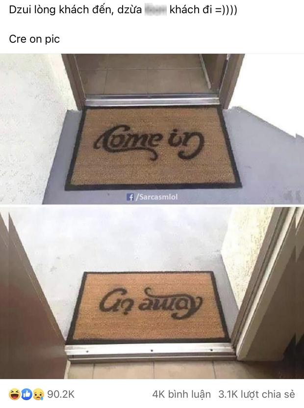 Đặt tấm thảm in một dòng chữ ngay trước cửa ra vào, cửa hàng gây bão toàn thế giới vì màn cà khịa khách cực thâm sâu - Ảnh 1.