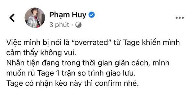 Quán quân King Of Rap tuyên chiến với Tage (Rap Việt), Orange, Xesi và loạt rapper Pháo, Sóc Nâu,... đồng loạt chọn phe! - Ảnh 1.