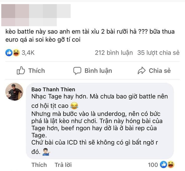 B Ray nhận xét trước trận beef giữa 2 rapper King of Rap và Rap Việt: Tage cơ hội tịt cao. ICD không có gì bất ngờ - Ảnh 2.