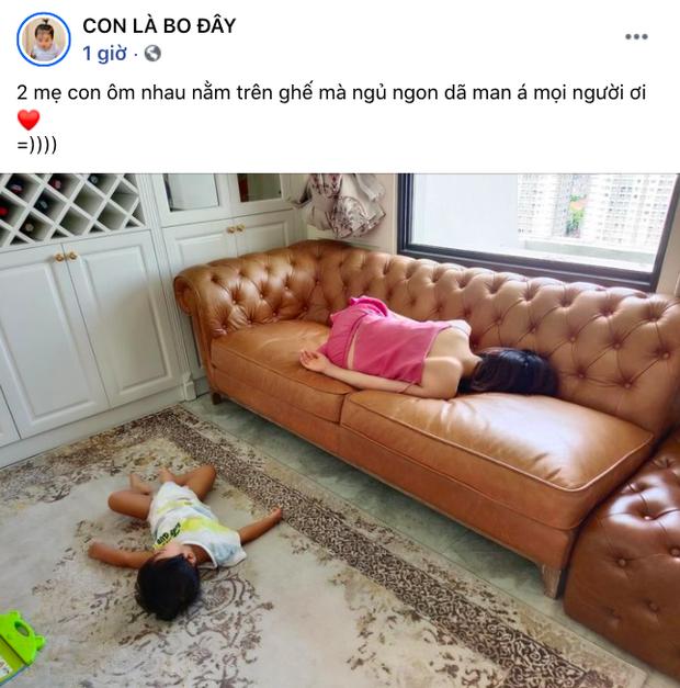 Mẹ con Hoà Minzy ôm nhau ngủ tình cảm quá: Bé Bo lăn xuống đất, mẹ vẫn cứ là say giấc nồng! - Ảnh 3.
