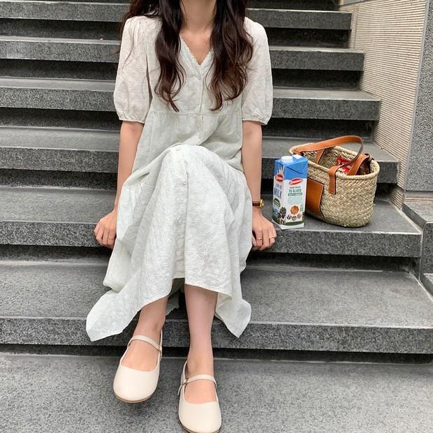 Tổng hợp váy tay bồng siêu iu lại không kén dáng, muốn mặc đẹp chưa bao giờ dễ đến thế - Ảnh 13.